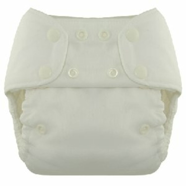 Blueberry One Size Deluxe Snap Diapers (White)