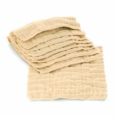 Indian Cotton Prefold Diapers-Unbleached-Infant 4-8-4