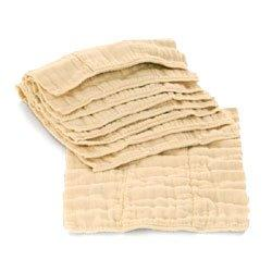 Indian Cotton Prefold Diapers-Unbleached-Infant 4-8-4