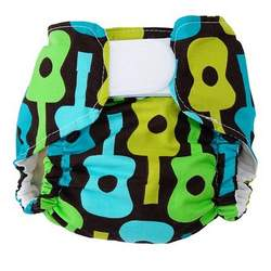 Lime Groovy Guitar One Size Designer Cloth Diaper