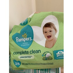 Pampers complete clean 216 counts