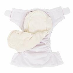 LIME FLOWERS ON AQUA One Size Designer Cloth Diaper