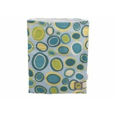 LARGED ZIPPERED WET BAGS BUBBLE DOT BLUE