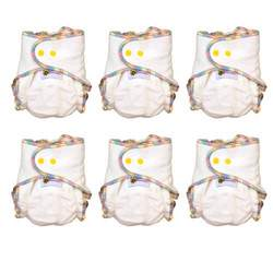 Baby BeeHinds One Size Hemp Fitted Cloth Diaper 6 Pack