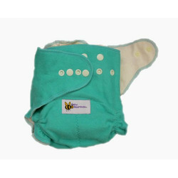 Baby BeeHinds One Size Fitted Cloth Diaper Green, Natural 24 Pack