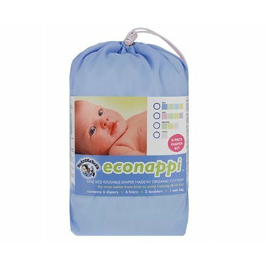 Swaddlebees Econappi Diapers 6 pack - Snaps Boys