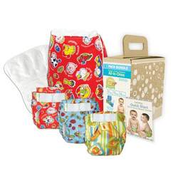 Bumkins Diaper Bundle 3-Pack- Unisex, Medium
