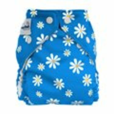 FuzziBunz Cloth Pocket Diaper BLUE DAISY - Small