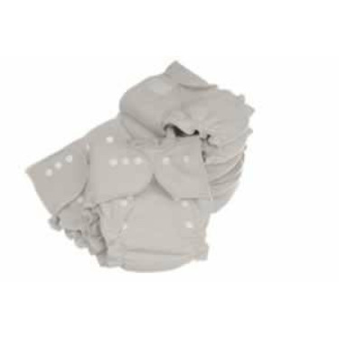 Tiny Tush Hemp Fitted Diaper Package of 6
