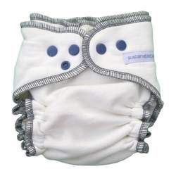 Sustainablebabyish Organic Fleece Fitted Diaper EXCLUSIVE COLOR - Iceberg Small