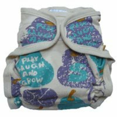 Sckoon Organic Cotton Baby Cloth Diaper Blue Pear Small
