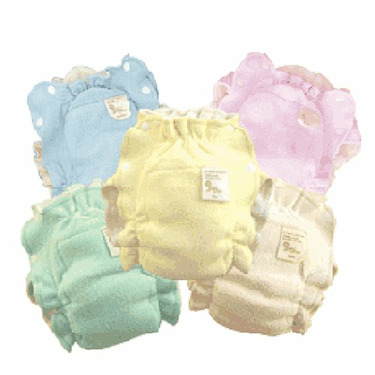 10 Absorb It All Organic Cotton Diapers - Natural Color - infant