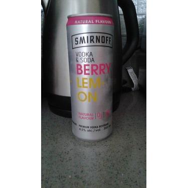 Smirnoff Vodka & Soda Berry Lemon