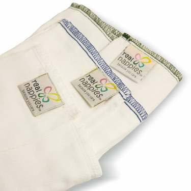 Real Nappies Six-Pack of Cotton Prefold Cloth Diapers, Crawler Size, for babies 6-18 months, 18-31 lb