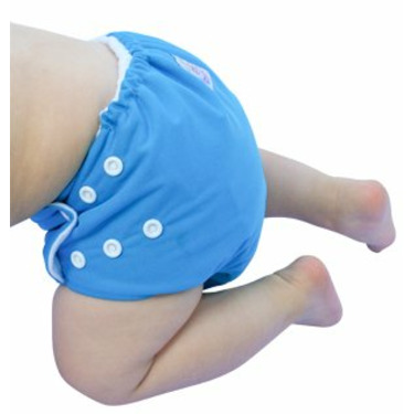 Knickernappies One Size Pocket Diaper with Microfiber Inserts - Blue