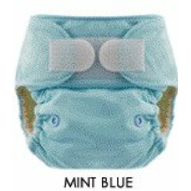 Blueberry One Size Deluxe Diaper - Hook/Loop - Mint Blue
