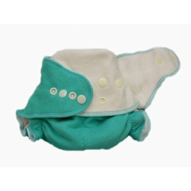 Baby BeeHinds One Size Fitted Cloth Diaper Green 24 Pack