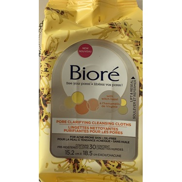 Biore pore clarifying cleansing cloths