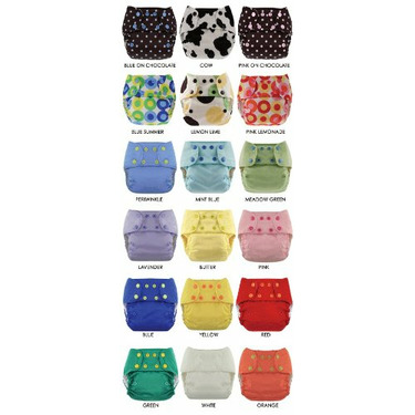 Blueberry One Size Deluxe Pocket Diapers - Snaps - Mint Blue