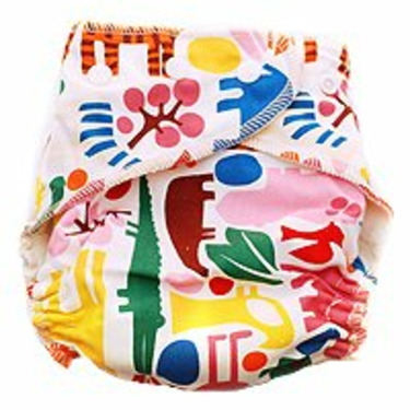 Kissaluvs Marvels One-Size Fitted Diaper - Zoo Blue