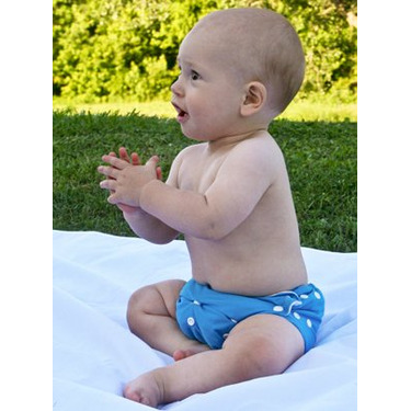 Knickernappies One Size Pocket Diaper with Microfiber Inserts - White