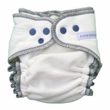 Sustainablebabyish Organic Fleece Fitted Diaper EXCLUSIVE COLOR - Iceberg Large