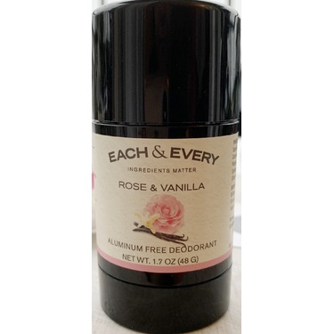 Each and every aluminium free natural deodorant rose and vanilla