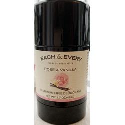 Each and every aluminium free natural deodorant rose and vanilla