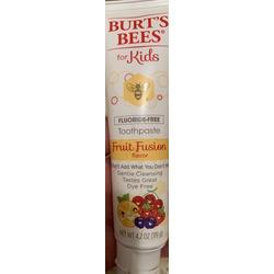 Burt's Bees for kids fluoride free toothpaste