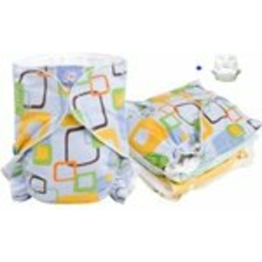 Kushies Baby Basic Fitted Diaper 5 pack plus 1 wrap