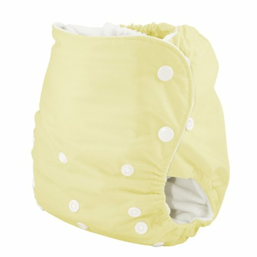 Knickernappies One Size Pocket Diaper with LoopyDo Inserts - Butter