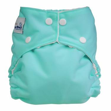 Fuzzi Bunz Cloth Pocket Diaper AQUA - Petite Toddler