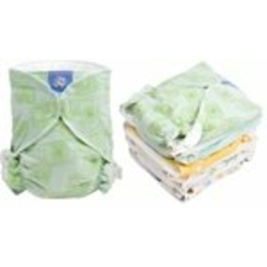Kushies Baby Basic Fitted Diaper 8 pack - Toddler - Neutral
