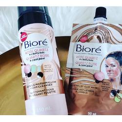 Biore Rose Quartz + Charcoal Gentle Marshmallow Foam Cleanser