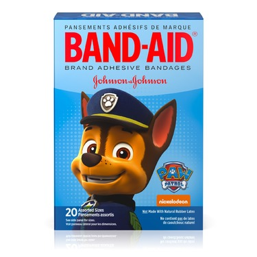 BAND-AID® Brand Adhesive Bandages Paw Patrol, 20 count (assorted sizes)