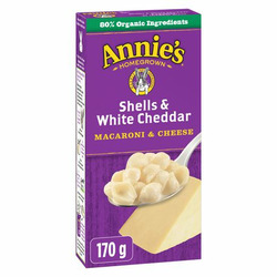Annie's Homegrown Shells and White Cheddar