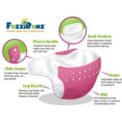 3 Pack FuzziBunz Cloth Pocket Diaper - Small - Girl Colors