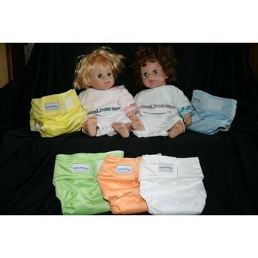 MamaLittleHelper 2.0 One Size Fitted Organic Bamboo Cloth Diaper - WHITE