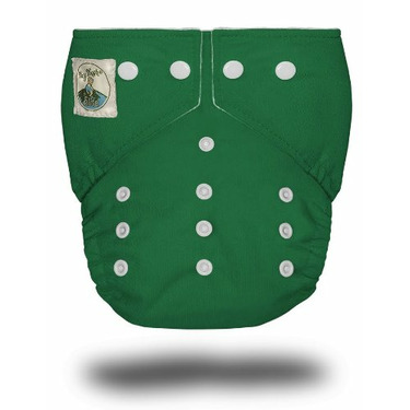 Tiny Tush Elite One-Size Cloth Diaper Snap Kelly Green [Health and Beauty]