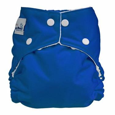 FuzziBunz Perfect Size Diaper - BLUE SMALL