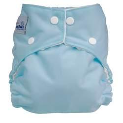 FuzziBunz Perfect Size Diaper - BABY BLUE SMALL