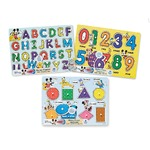 Melissa & Doug Disney Classics Alphabet Wooden Peg Puzzle (Developmental Toys, Sturdy Wooden Construction, 26 Pieces)