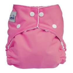 FuzziBunz Perfect Size Diaper - BUBBLEGUM MEDIUM