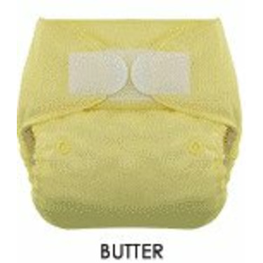 Blueberry One Size Deluxe Diaper - Hook/Loop - Butter