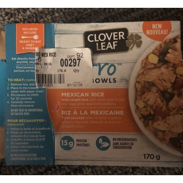 Clover leaf bistro bowls Mexican rice