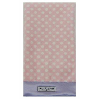 Baby Star Confetti Diaper Burp - Pink Lavender