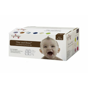 "CuteyBaby ""One and Done!"" Modern Cloth Diaper Starter Kit - BOY"