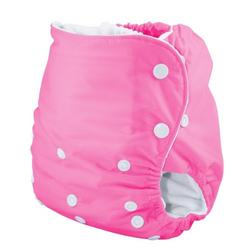 Knickernappies One Size Pocket Diaper with Microfiber Inserts - Raspberry Pink