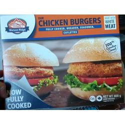 Watson Ridge chicken burgers