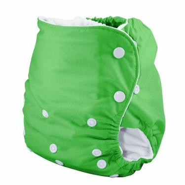 Knickernappies One Size Pocket Diaper with LoopyDo Inserts - Spring Green